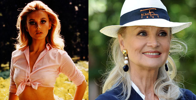 Barbara Bouchet then and now