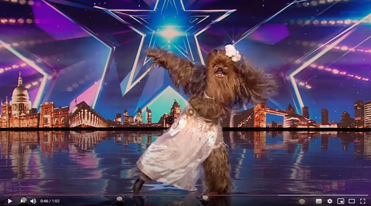 In a GALAXY far, far, away - Wookies can belly dance! - BGT 2020