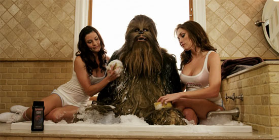 Chewbacca Needs a Rub Down
