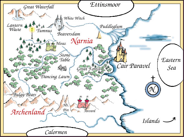 Map of Narnia