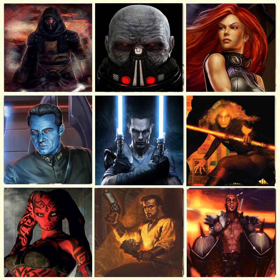 Star Wars Legends Characters