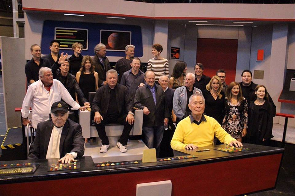 Star Trek Crew Group Shots and Selfies