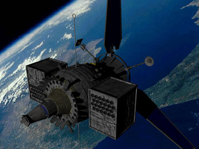 Global orbital defence satellite